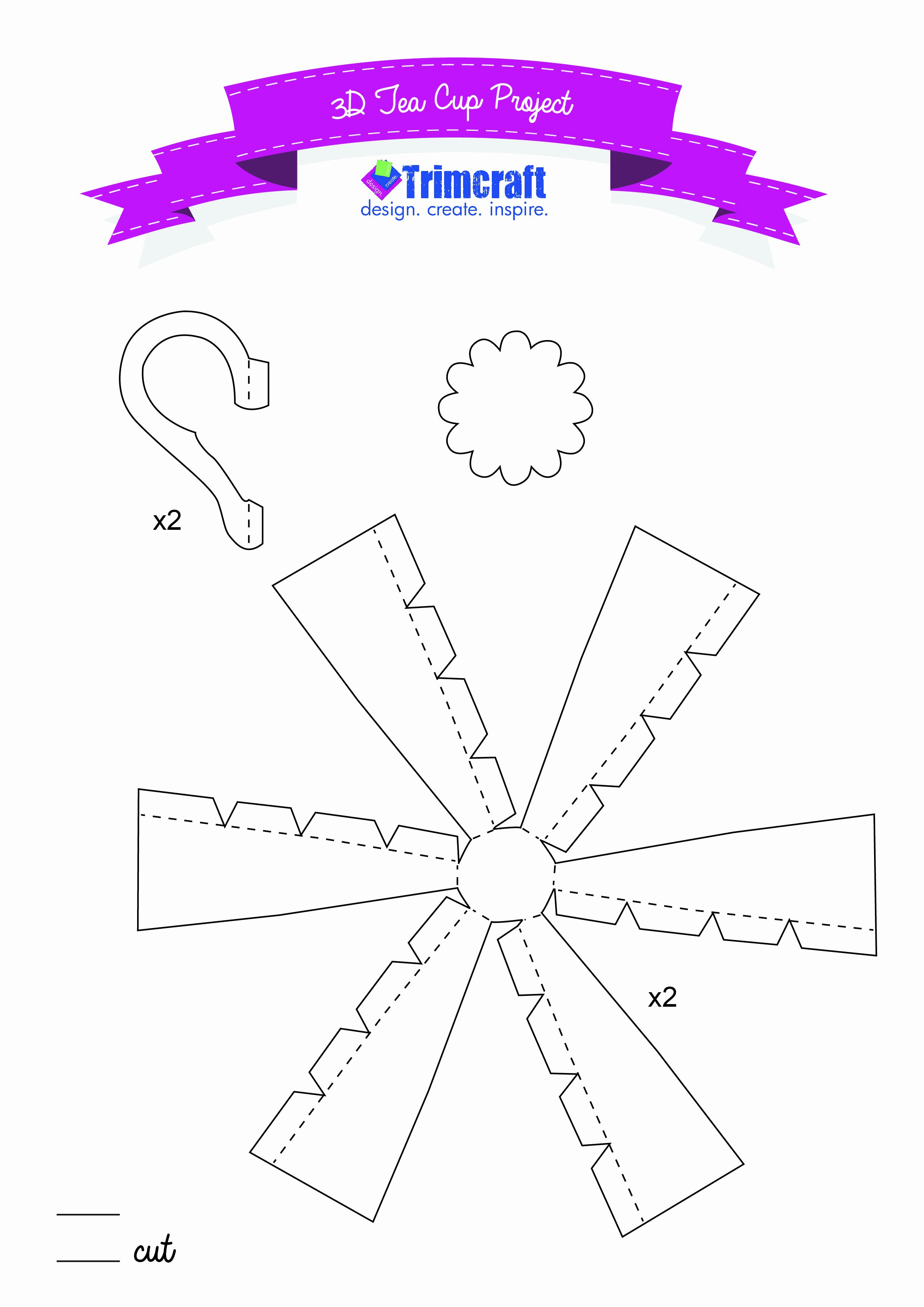 Paper Teacup Template Lovely Pin by Denise Foor Stampin Up Demonstrator On Templates