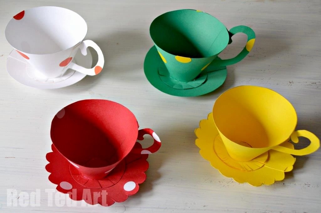 Paper Teacup Template New Paper Teacup Printable & Tea Party Games