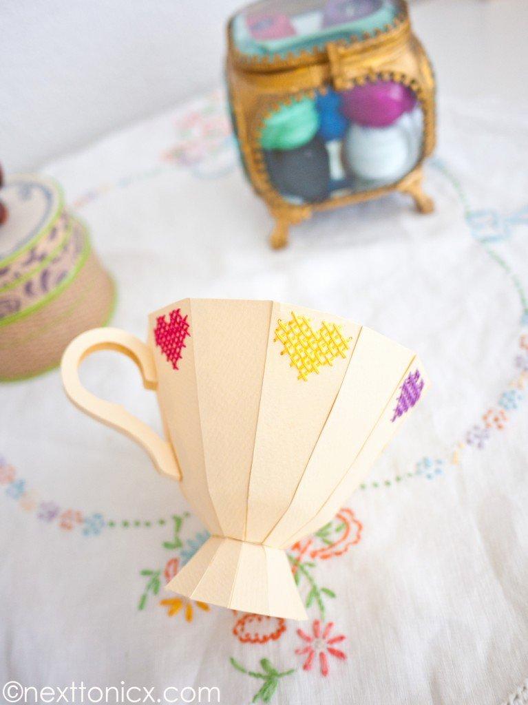 Paper Teacup Template Unique Paper Tea Cup 2