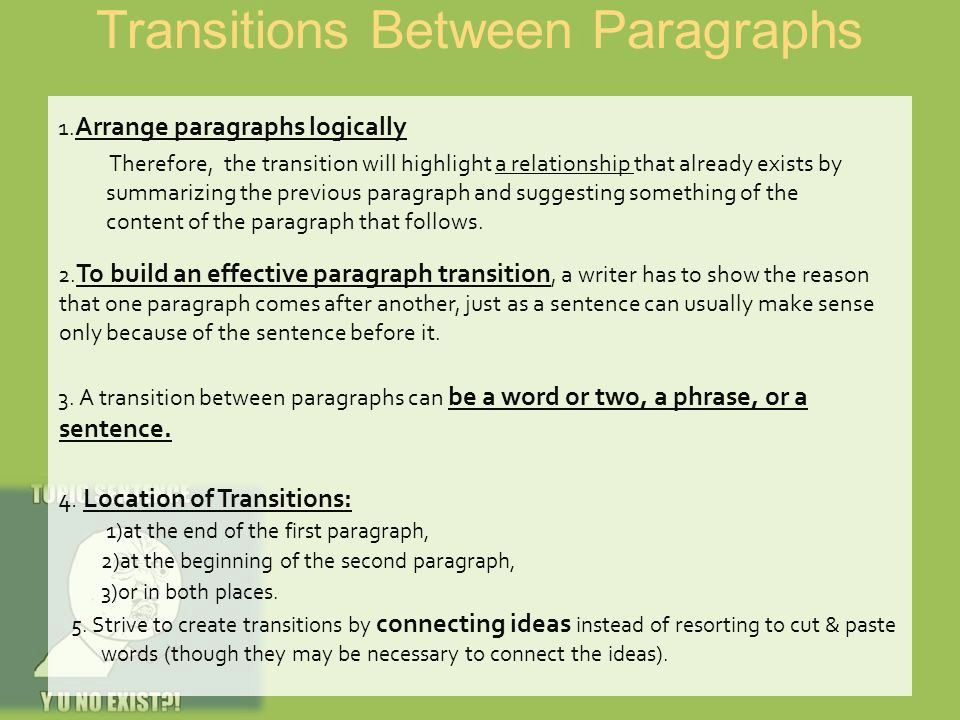 Paragraph Transition Words for Essays Awesome thesis and Strong topic Sentences Ppt