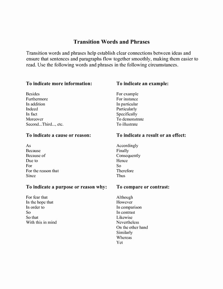 Paragraph Transition Words for Essays Best Of 17 Best Ideas About Transition Words for Paragraphs On