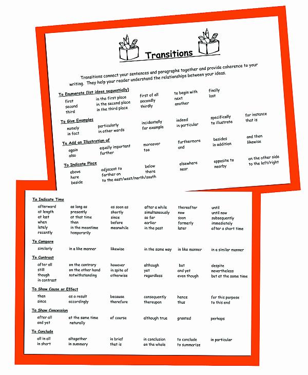 Paragraph Transition Words for Essays Elegant 51 Transition Sentences for Essays Essay Transitions for