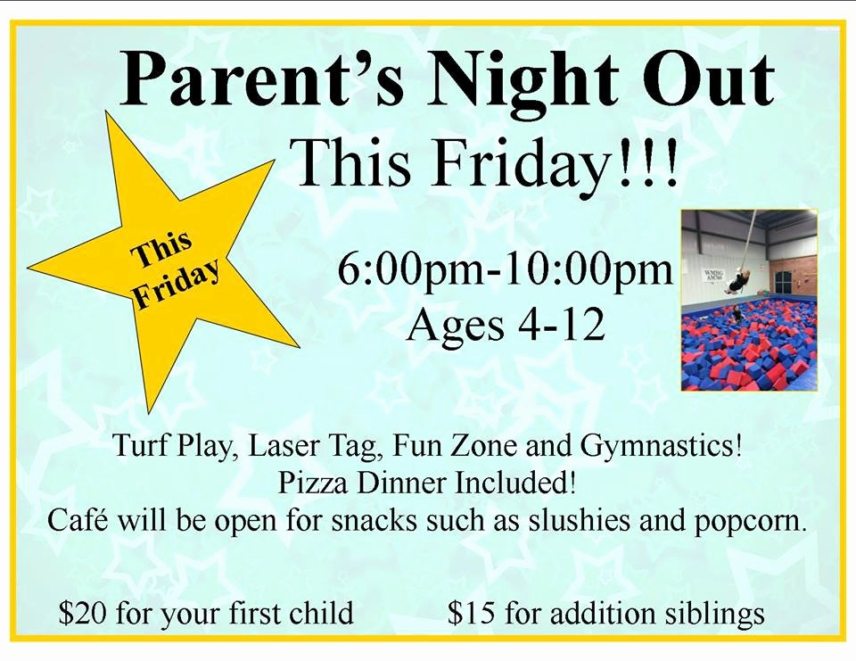 Parents Night Out Flyer Template Awesome Pin Daycare Flyer On Pinterest