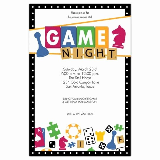 Parents Night Out Flyer Template Beautiful Game Night Invitations Google Search