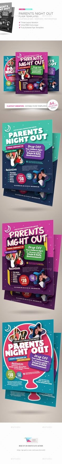 Parents Night Out Flyer Template Elegant Family Cookout event Flyer Poster Template