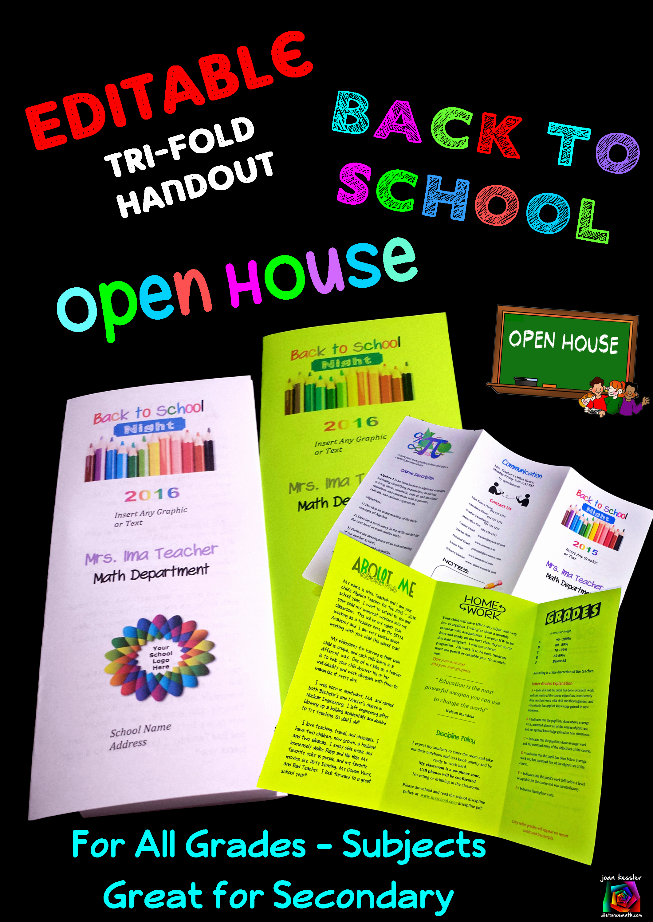 Parents Night Out Flyer Template Lovely Editable Open House Parent Night Back to School Tri Fold