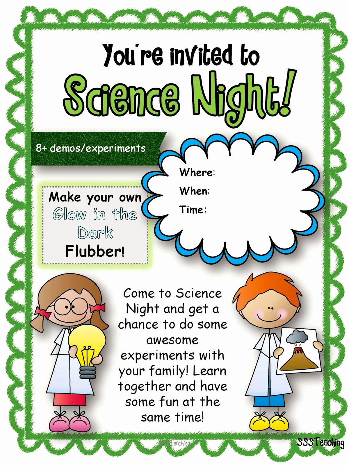 Parents Night Out Flyer Template Lovely Ultimate Family Science Night Sssteaching