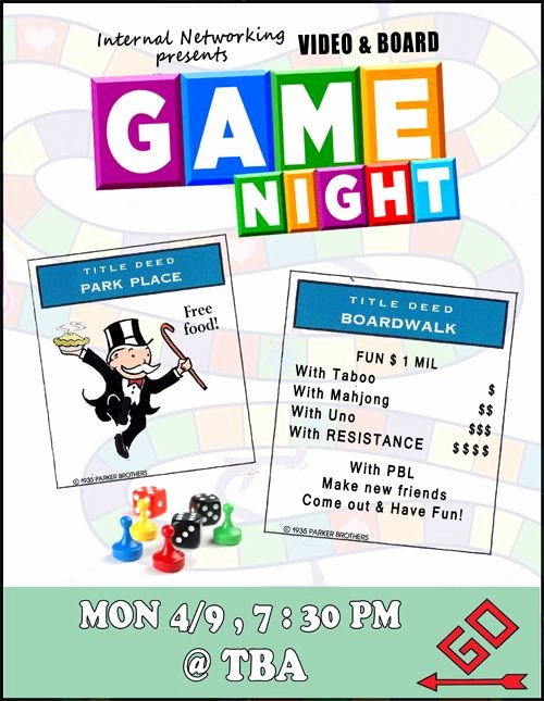 Parents Night Out Flyer Template Luxury Game Night Flyer Game Night Party Pinterest