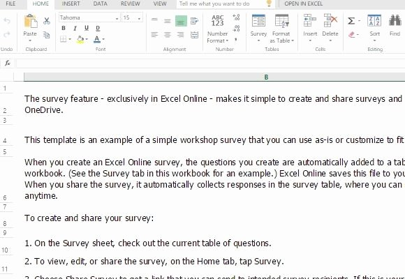 Participant Guide Template Best Of Workshop Survey form Template for Excel