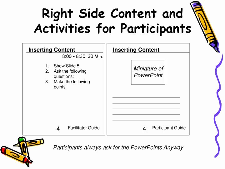 Participant Guide Template Fresh Ppt Facilitator Guide Template Powerpoint Presentation