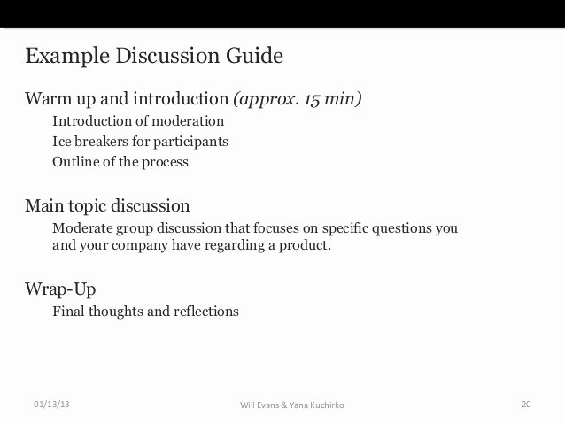 Participant Guide Template Inspirational Introduction to Ux Research Conducting Focus Groups
