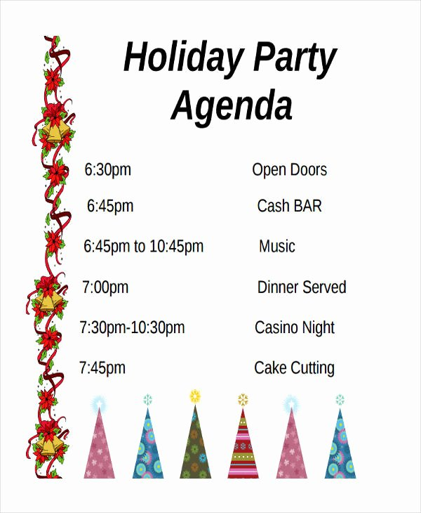 Party Agenda Template Best Of 56 Agenda Templates and Examples