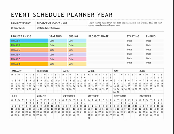 Party Agenda Template Lovely event Planner