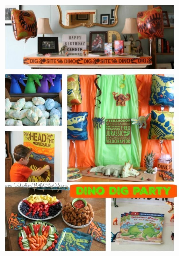 Party City Dinosaur Party Fresh Dino Dig Birthday Party Suburban Wife City Life