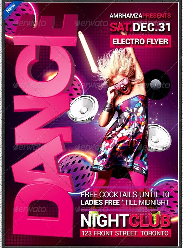 Party Poster Ideas Lovely 25 Psd Dance Poster Templates & Designs