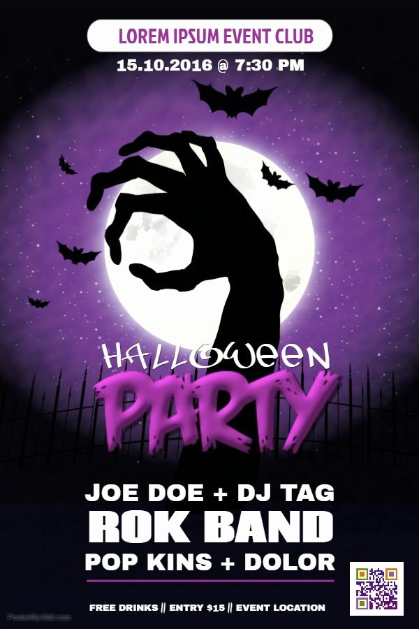 Party Poster Ideas Lovely Halloween Party Poster Ideas