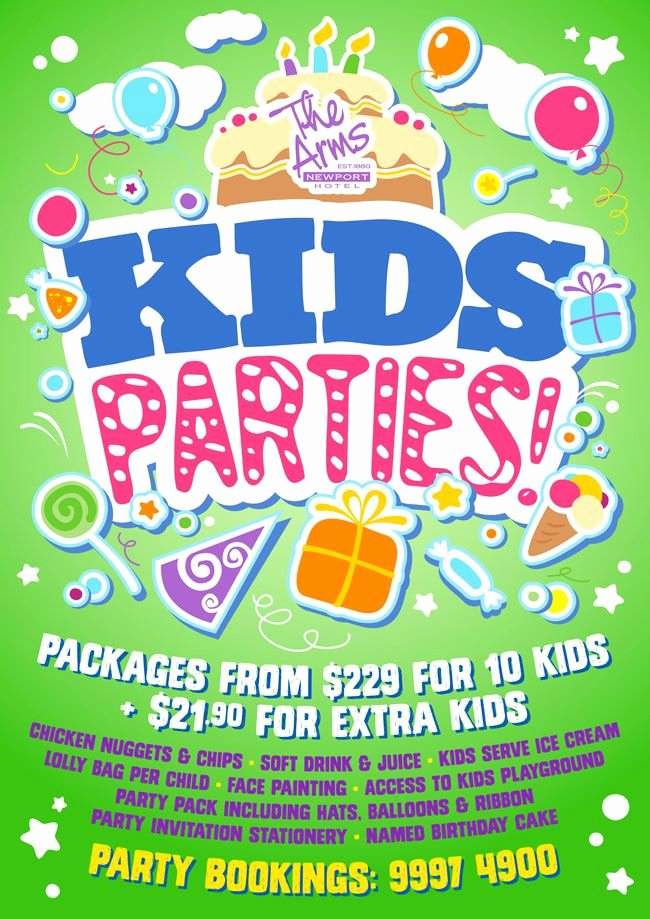 Party Poster Ideas Unique Party Planningf Flyer for Kids