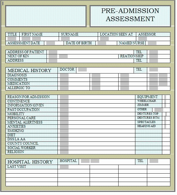 Patient Face Sheet Template New 22 Of Hospital Admission Report Template