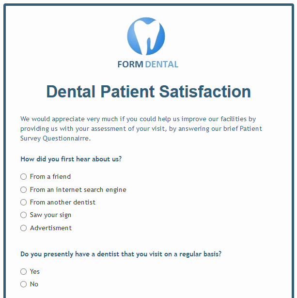 Patient Feedback form Beautiful formwize Examples