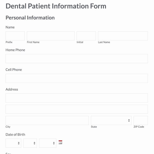 Patient Information form Template Elegant Patient Demographic Template Carbonterialwitness