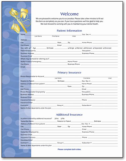 Patient Information form Template Lovely Dental Elements Wel E History form