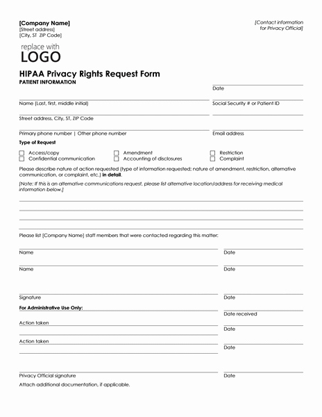 Patient Information form Template Unique Patient Health Information Request form Can Be Used by