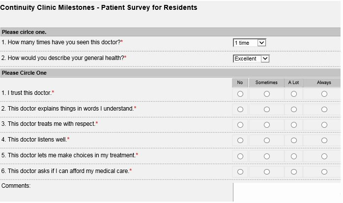Patient Survey form Best Of forms for Continuity Clinic