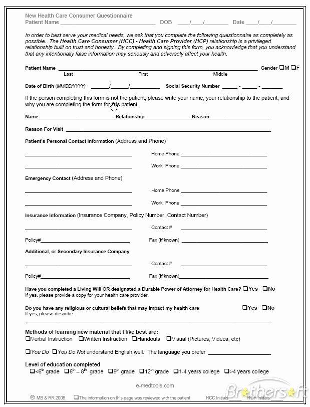 Patient Survey form Elegant Health Questionnaire form Bing Images