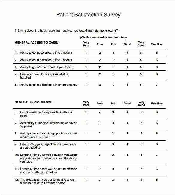 Patient Survey form Lovely Sample Patient Satisfaction Survey 10 Documents In Pdf