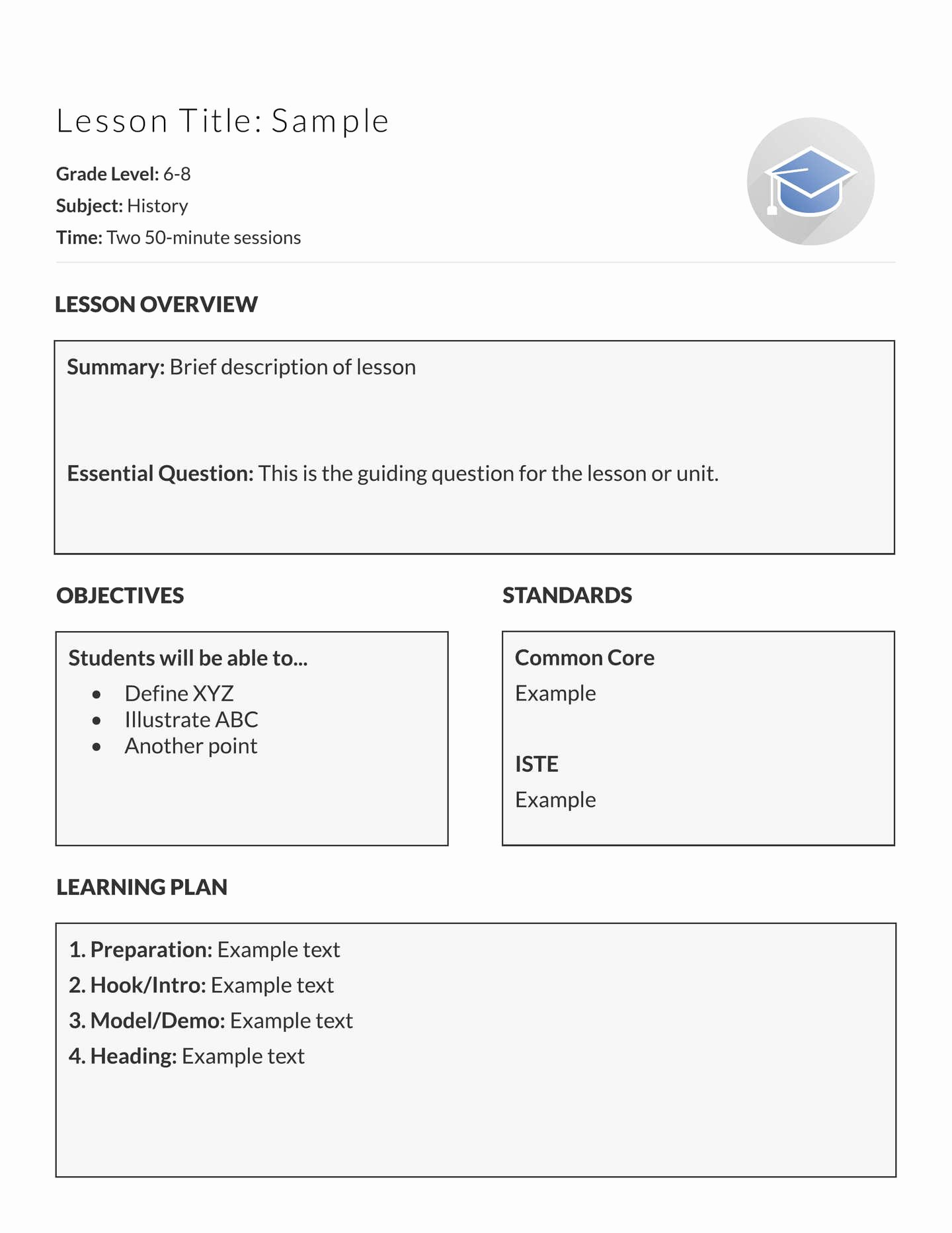 Patient Teaching Plan Examples Unique 5 Free Lesson Plan Templates & Examples Lucidpress