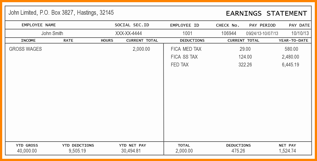 Pay Stub Template Word Awesome 5 Pay Stub Template Word