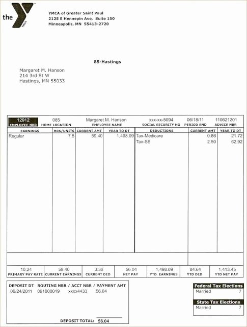 Pay Stub Template Word Lovely 10 Best Blank Pay Stub Template Word Images On Pinterest