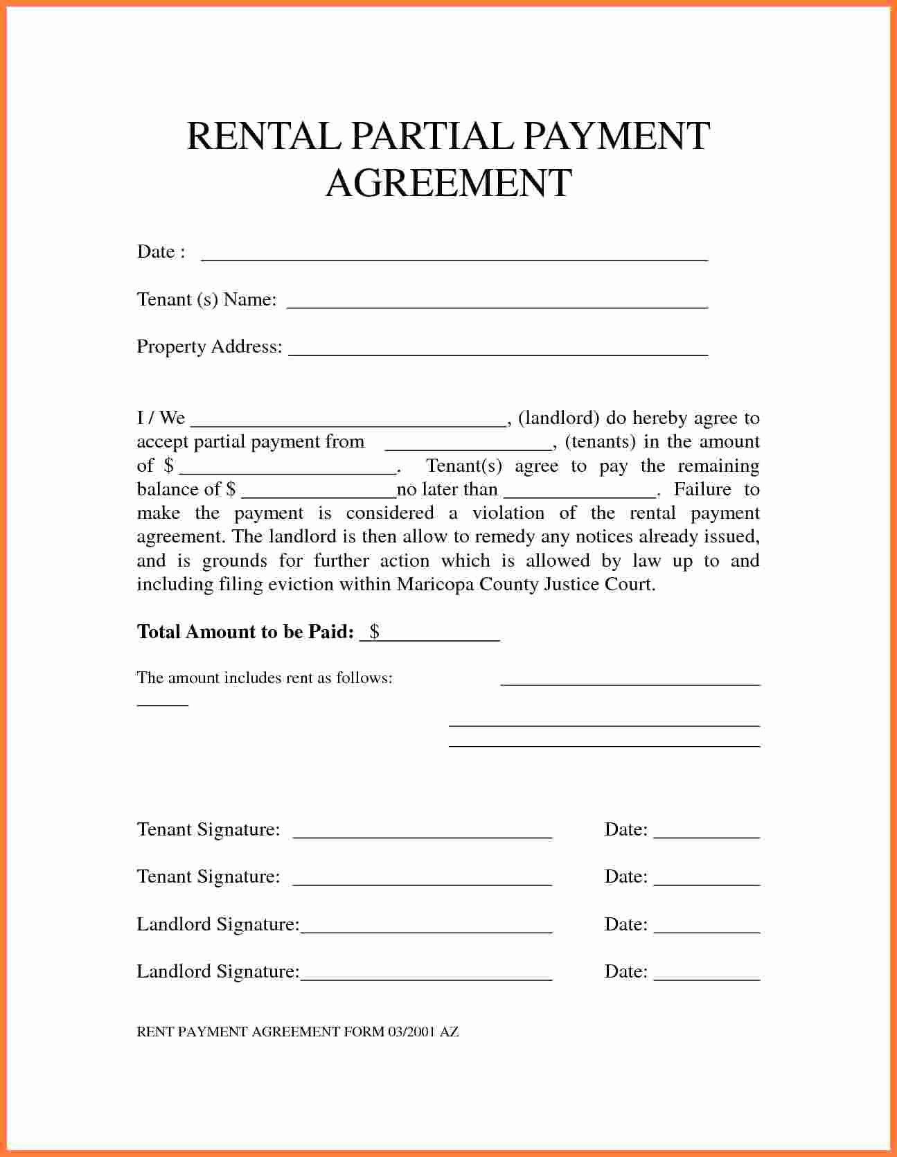 Payment Arrangement Template Beautiful 5 Payment Agreement Template