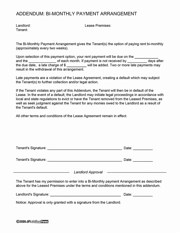 Payment Arrangement Template Beautiful Weekly Rental Agreement