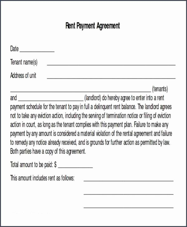 Payment Arrangement Template Best Of Payment Contract and Payment Agreement 40 Templates