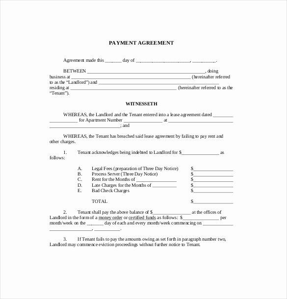 Payment Arrangement Template Fresh 22 Payment Agreement Templates Pdf Google Docs Pages