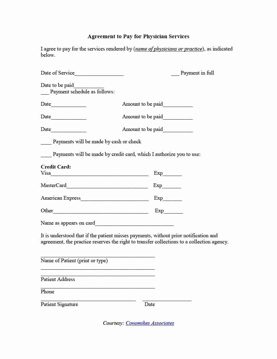 Payment Arrangement Template Inspirational Payment Agreement 40 Templates & Contracts Template Lab
