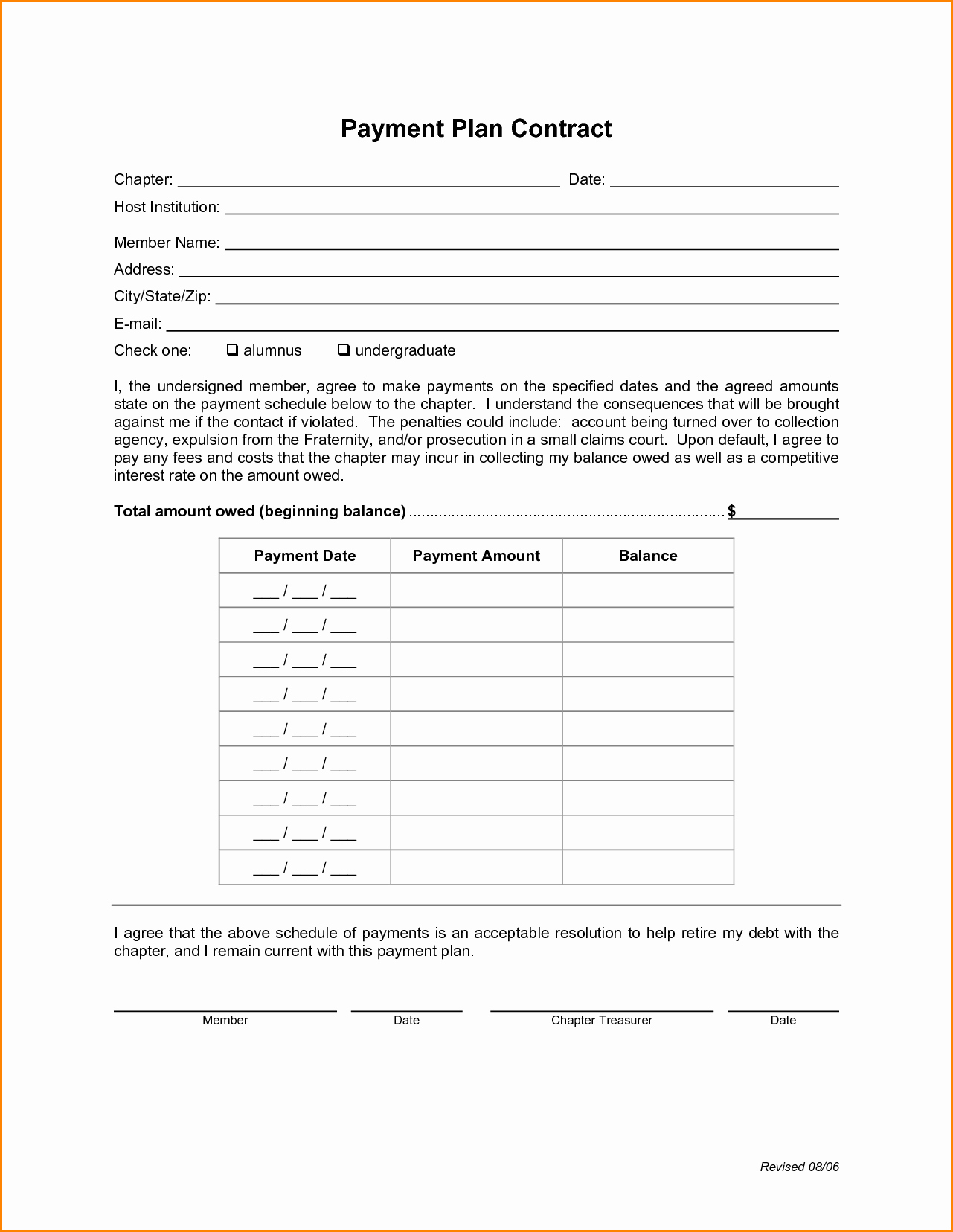 Payment Contract Example Beautiful Agreement Templates