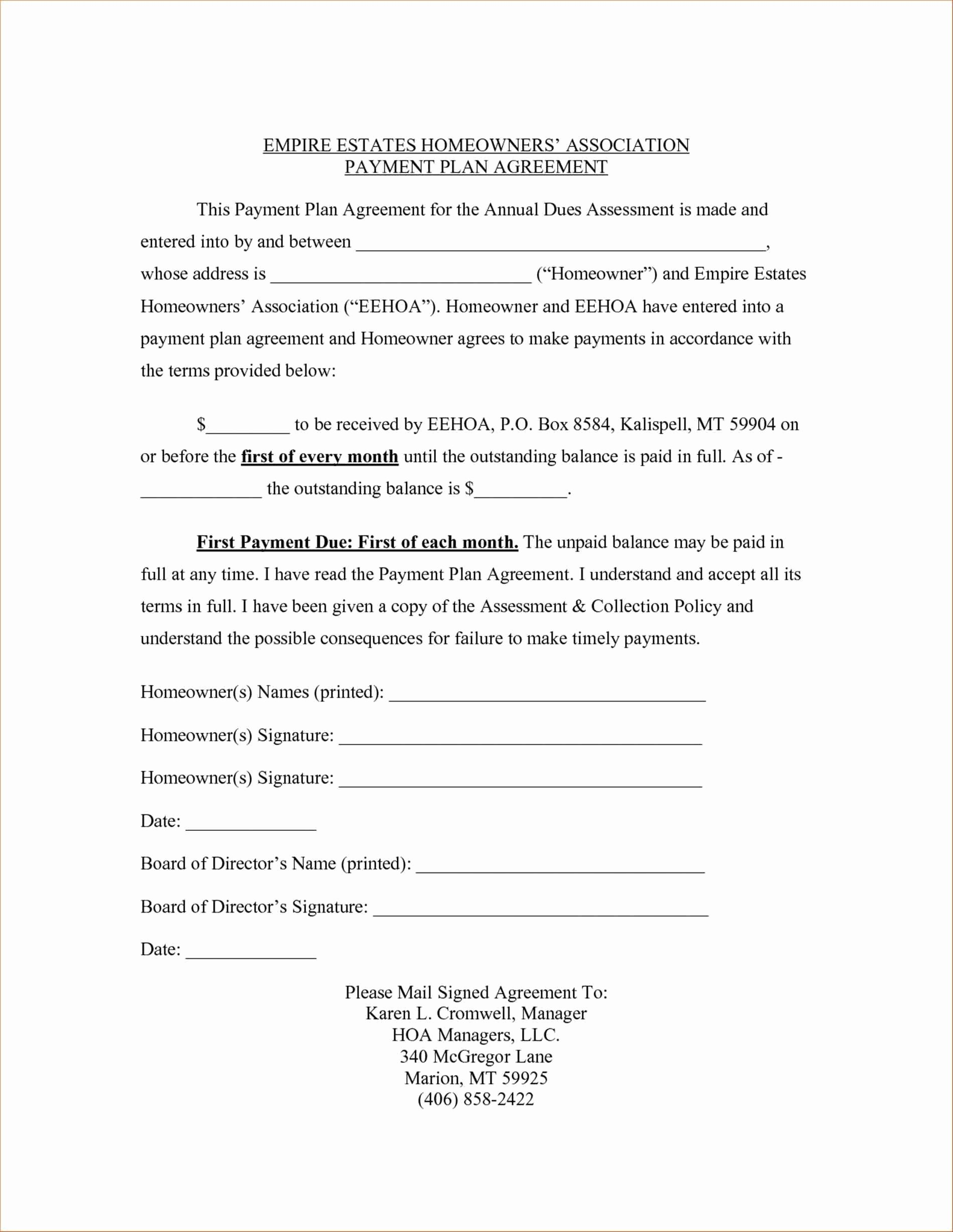Payment Contract Example Fresh Image Result for Payment Plan Contract Agreement Template