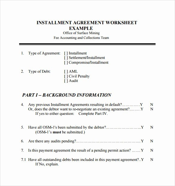 Payment Installment Agreement Template Beautiful 7 Sample Installment Agreements
