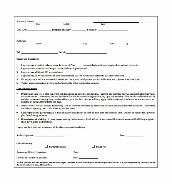 Payment Installment Agreement Template Unique 11 Sample Payment Plan Templates to Download