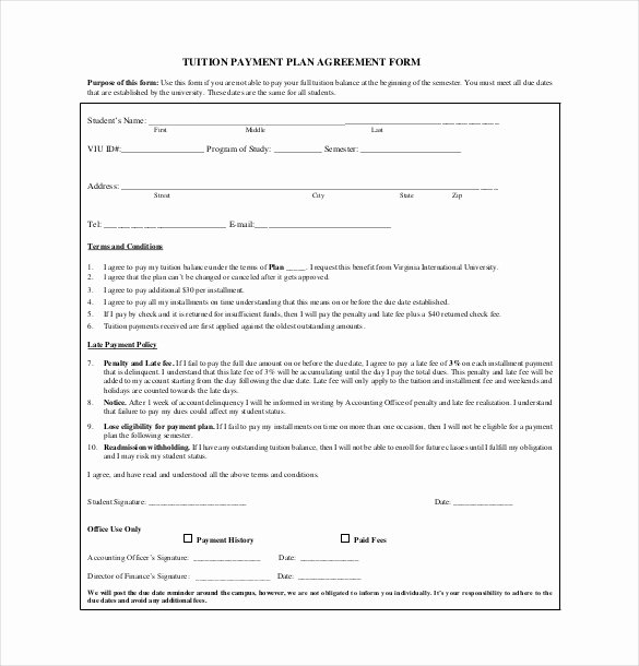 Payment Plan Agreement Beautiful 22 Payment Agreement Templates Pdf Google Docs Pages