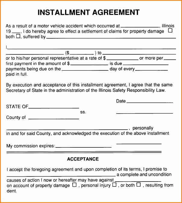 Payment Plan Agreement Beautiful 6 Installment Payment Contract Template