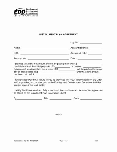 Payment Plan Agreement New 16 Agreement Letter for Payment Examples Pdf Doc
