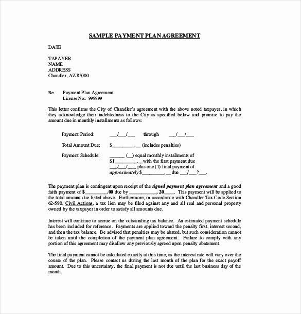 Payment Plan Agreement Template Inspirational 22 Payment Agreement Templates Pdf Google Docs Pages
