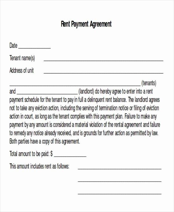 Payment Plan Agreement Template Unique Sample Payment Plan Agreement 10 Examples In Word Pdf