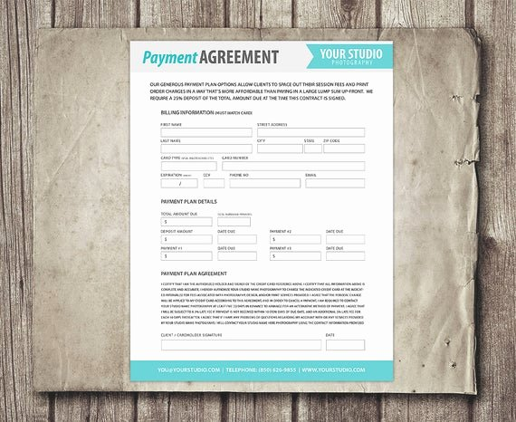 Payment Plan form Fresh Payment Plan Template Graphy Financial Contract Invoice