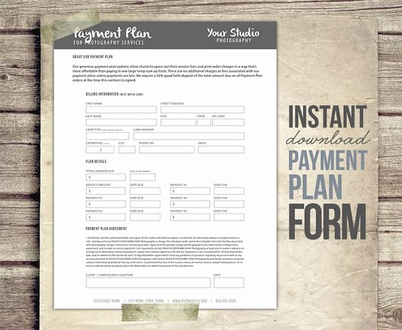 Payment Plan form Unique Graphy Payment Plan form Template Financial
