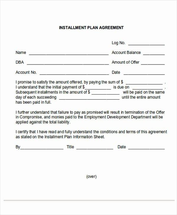 Payment Plan Letter Fresh 36 Payment Letter formats