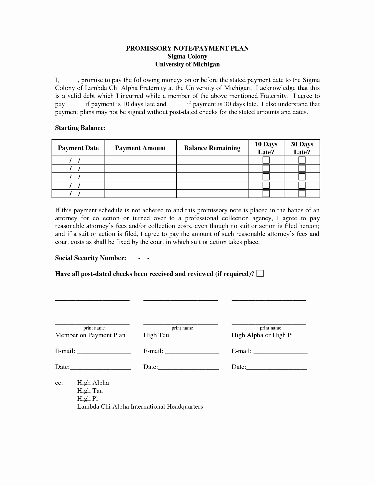 Payment Plan Letter Fresh Payment Plan Template
